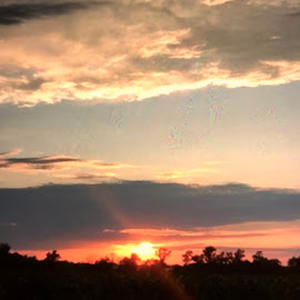 Awesome Sunset  by Debra Summers - Landscapes Sunsets & Sunrises ( sky, clouds, sun )