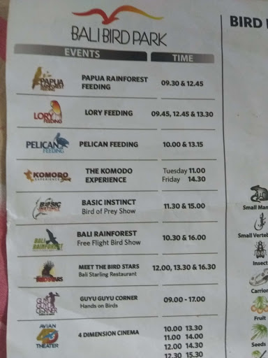 jadwal Bali Bird Park