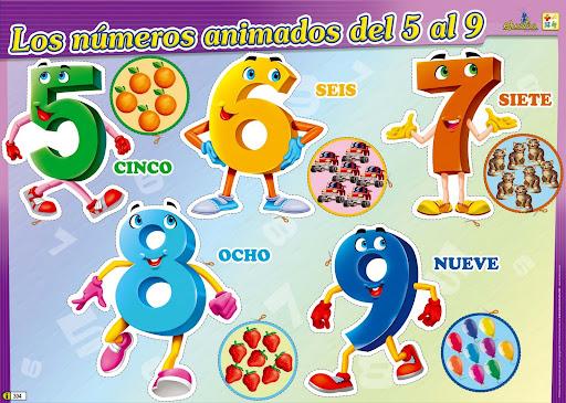 NUMEROS ANIMADOS PARA RECORTAR DEL 0 AL 9 INFANTIL PARA NIÑOS