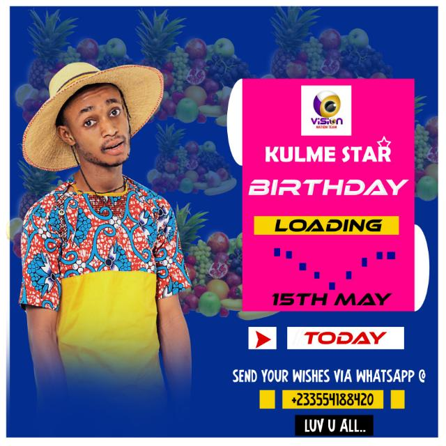 Kulme Star celebrating his birthday, read what he said to the puplic!