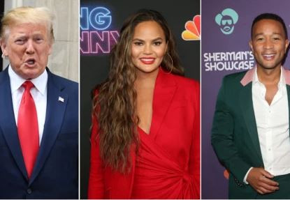 Twitter Melts Down After President Trump Called John Legend A 'Boring' Musician And Said His Wife, Chrissy Teigen Has A 'Filthy Mouth'
