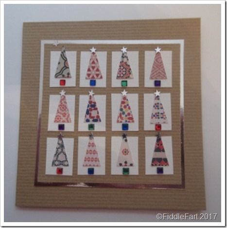 punched Christmas Tree Card 7