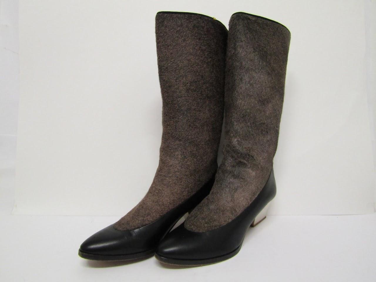 Zoe Lee Fur Boots