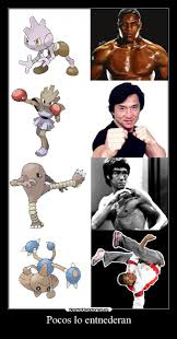 The Pokémon Hitmonlee and Hitmonchan are based off of Bruce Lee and Jackie Chan.