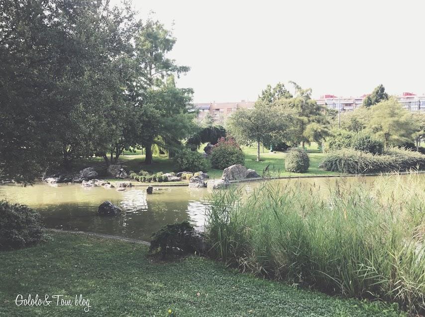Lago del parque Yamaguchi en Pamplona