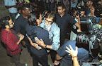 Amitabh Bachchan and Arjun Rampal at the special screening of 'D-Day' held at Light Box Theatre, Santacruz, Mumbai. On 18/07/2013. PIC/SATYAJIT DESAI