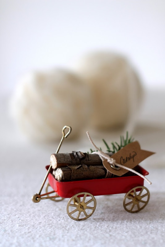 Vintage Wagon & Log Place Cards by homework (carolynshomework (7)