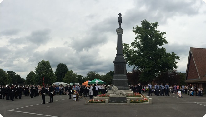 Remembrance Service - panorama at the Boer War  Memorial