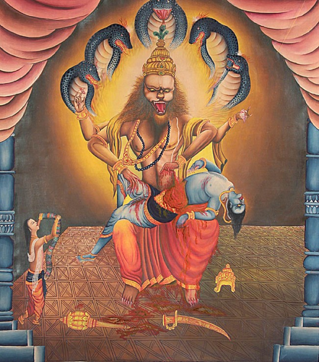 Lord Narasimha, Gods And Goddesses 6