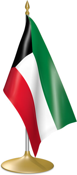 Kuwaiti table flags - desk flags