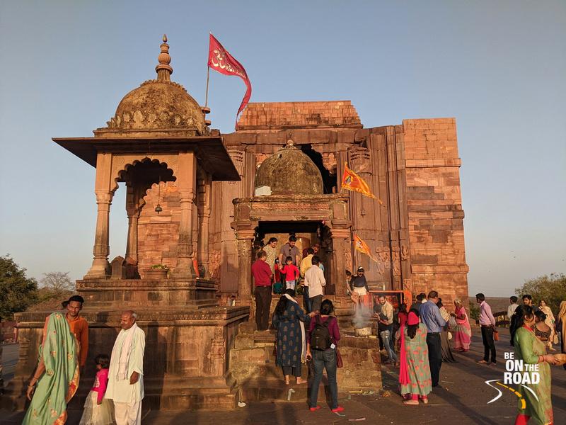 Offering prayers at the Bhojpur Shiva Temple, Madhya Pradesh