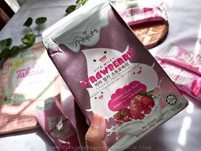 ShinjuMi Vitamilky Rasa Strawberry, Minuman Untuk Kesehatan Kulit