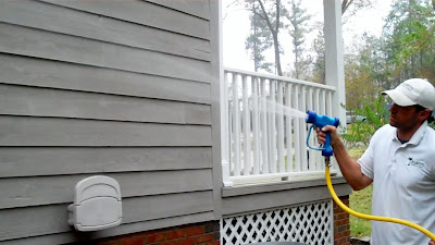 Pressure washing roof cleaning in columbia sc low pressure soft wash house washing in - Exterior home cleaning ...