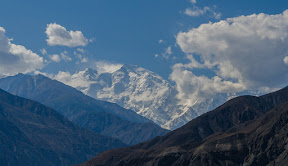 The killer mountain Nanga Parbat, picture taken just after thalechi bridge.