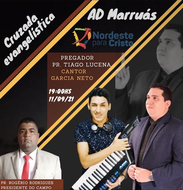 Assembleia de Deus em Marruás estará em festa nesta sexta e sábado