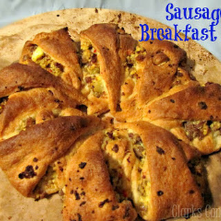 Sausage Crescent Roll Breakfast Ring.