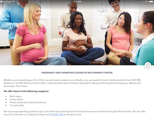 UNC REX Pregnancy & Baby screenshot 13