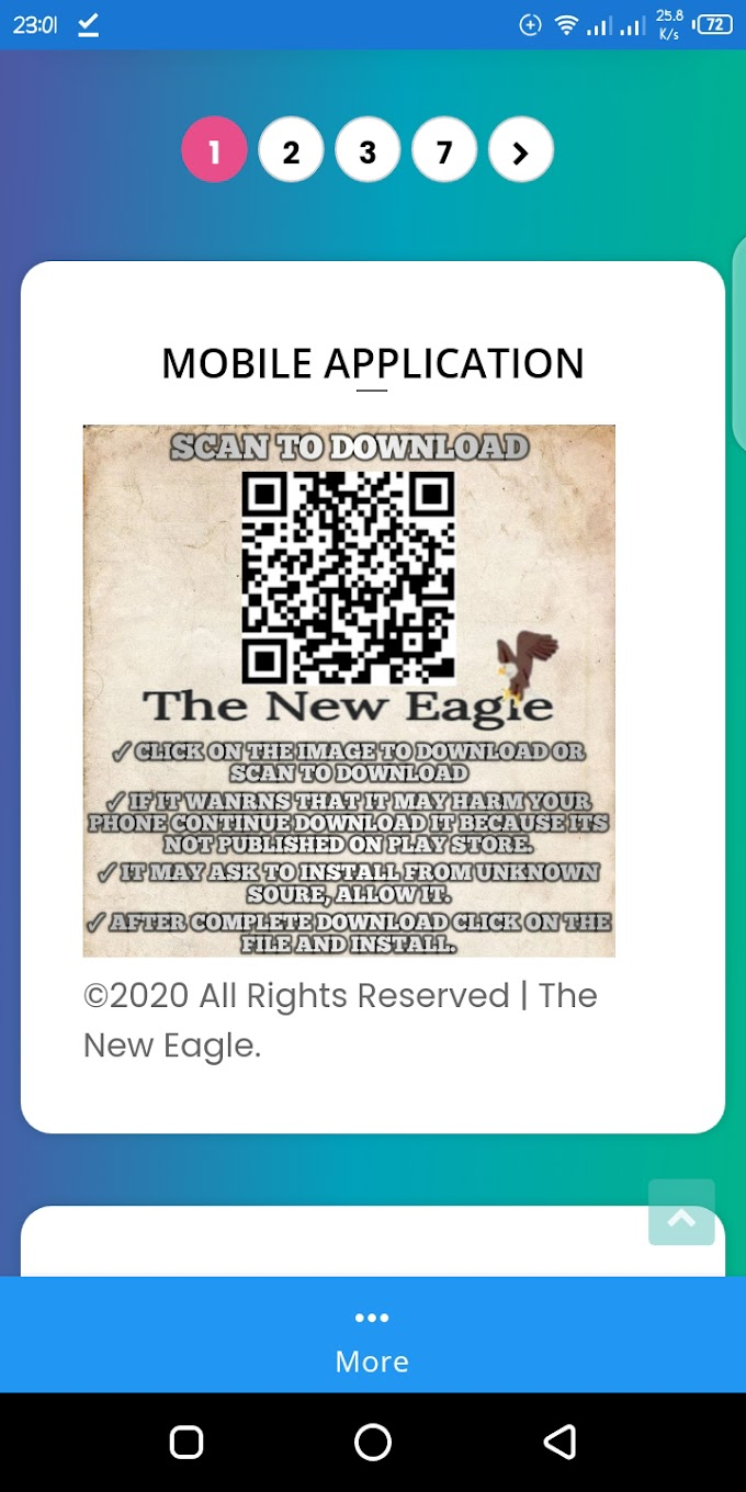 The New Eagle launches it's Mobile Application.