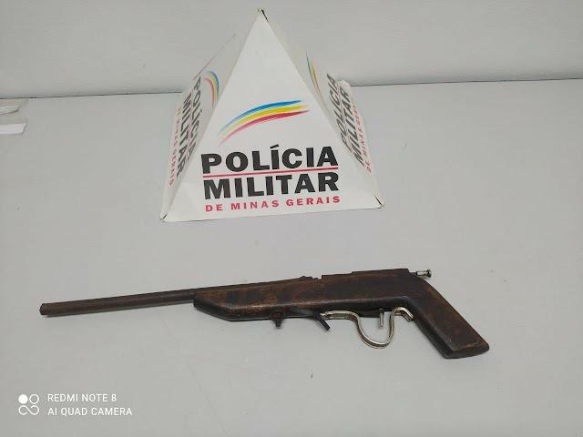 Polícia Militar apreende arma de fogo durante patrulhamento na área urbana de Orizânia