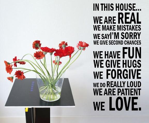 Stickers adesivo da parete regole della casa 50x120 cm for 30 50 design della casa