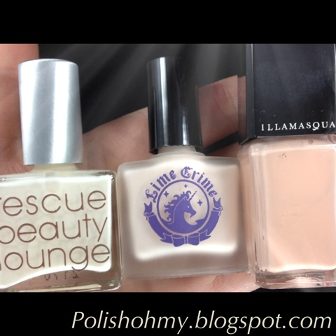 Rescue Beauty Lounge 'Bella Donna', Lime Crime 'Milky Ways', & Illamasqua 'Monogamous'