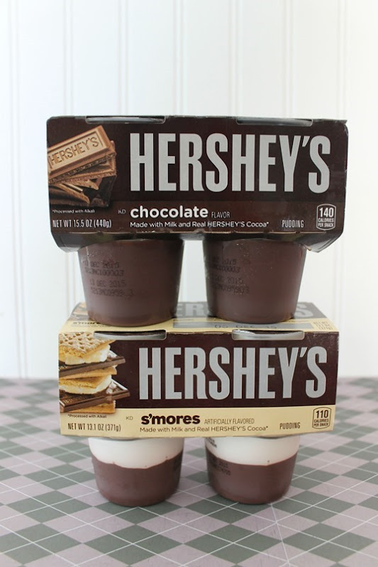 hersey's chocolate s'mores flavored pudding cups