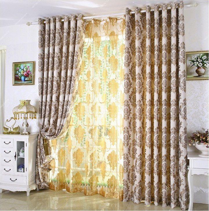 Rèm vải đẹp hà nội họa tiết đơn giản 10