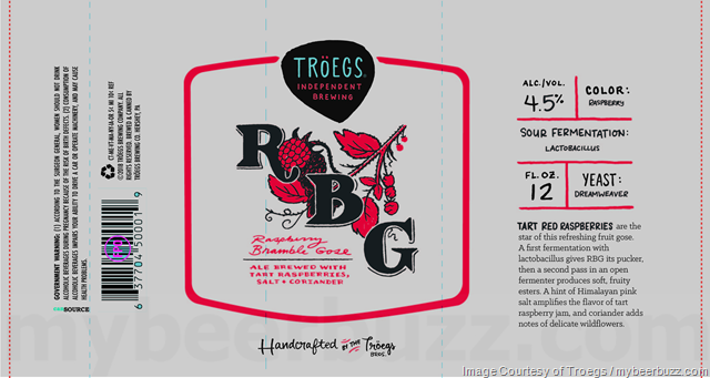 Troegs RBG (Raspberry Bramble Gose) Coming To Cans
