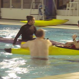 Entrainement kayak à la piscine de Voiron