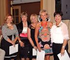 Pat Fleming, Past President - Daryl Lynch, Janice Raver, Dorene Badalamenti, Gayle Clark