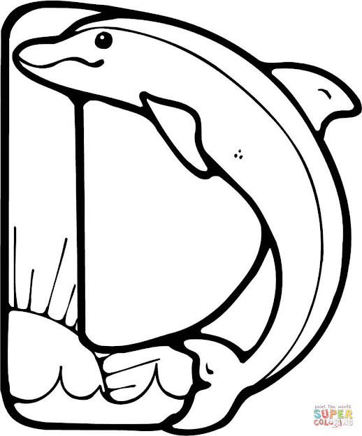 Click The Letter Is For Dolphin Coloring Pages