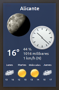 My Weather Indicator para Ubuntu - Widget 3