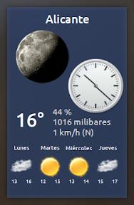 My Weather Indicator para Ubuntu - Widget 3