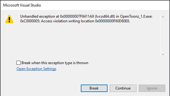 Crashing on Windows 10 due to lvcod64 dll · Issue #46 · opentoonz