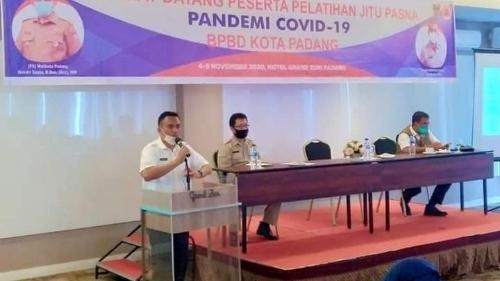Pemerintah Kota Padang melalui BPBD menggelar kegiatan Pelatihan Jitu Pasna Pandemi Covid-19.