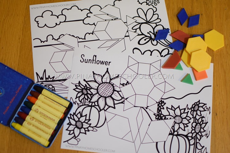 Pattern Blocks and Coloring Mats for Kids