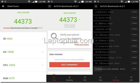 Benchmark AnTuTu Asus Zenfone 3 Max ZC553KL