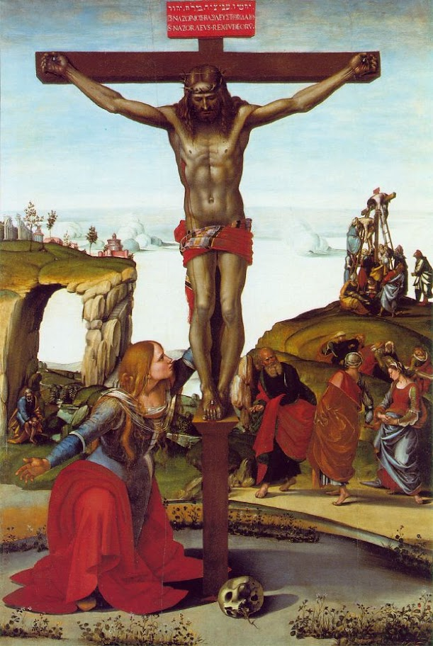 Luca Signorelli - Crucifixion with Mary Magdalen