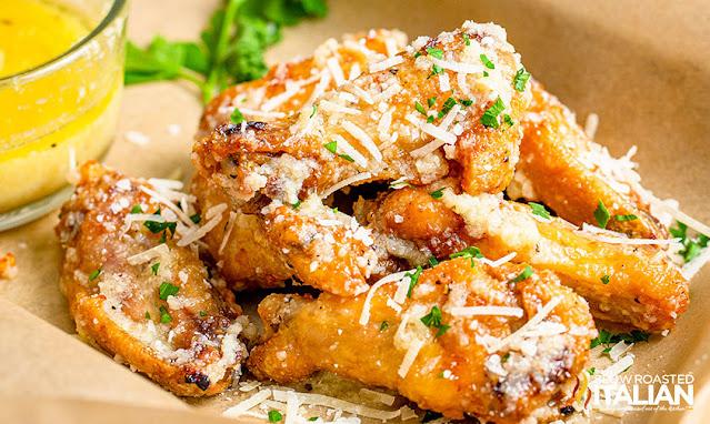 Garlic Parmesan Air Fryer Wings