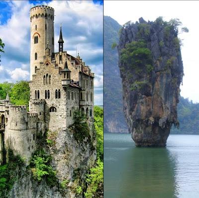 Lichtenstein Castle & James Bond Rock before Photoshop Shotgun Wedding