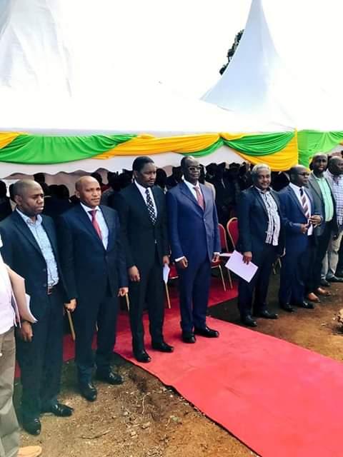 CS Agriculture Mwangi Kiunjuri launches miraa Market. PHOTO | BMS