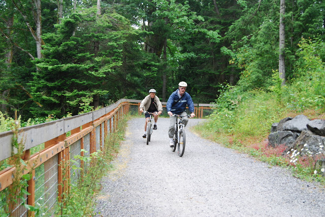 Mountain Biking along the Interurban trailCredit: Bellingham Whatcom County Tourism