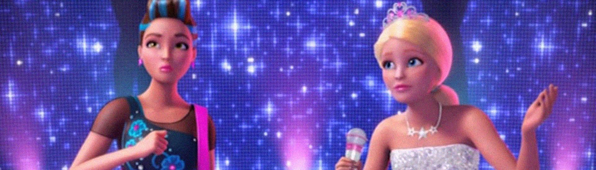 Baner filmu 'Barbie Rockowa Księżniczka'