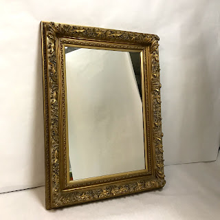 Distressed Ornate Gilded Hanging Mirror