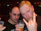 Daniel Liljekvist, KATATONIA & moi sharing a beer!