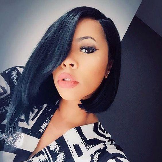 Hot Color Bob Black Women Hairstyles 2019