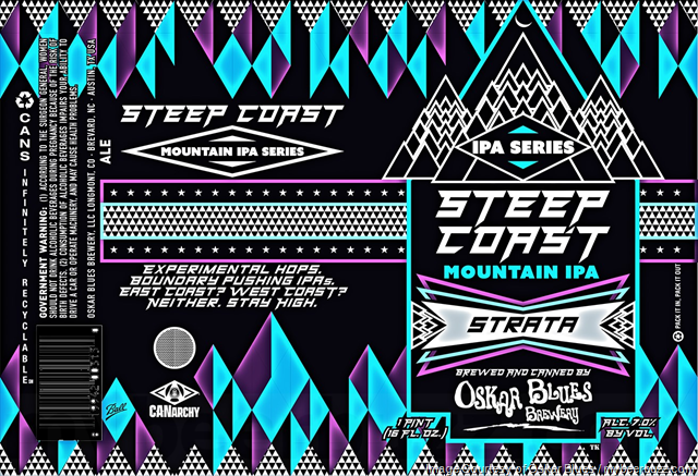 Oskar Blues Adding Steep Coast Mountain IPA 16oz Cans