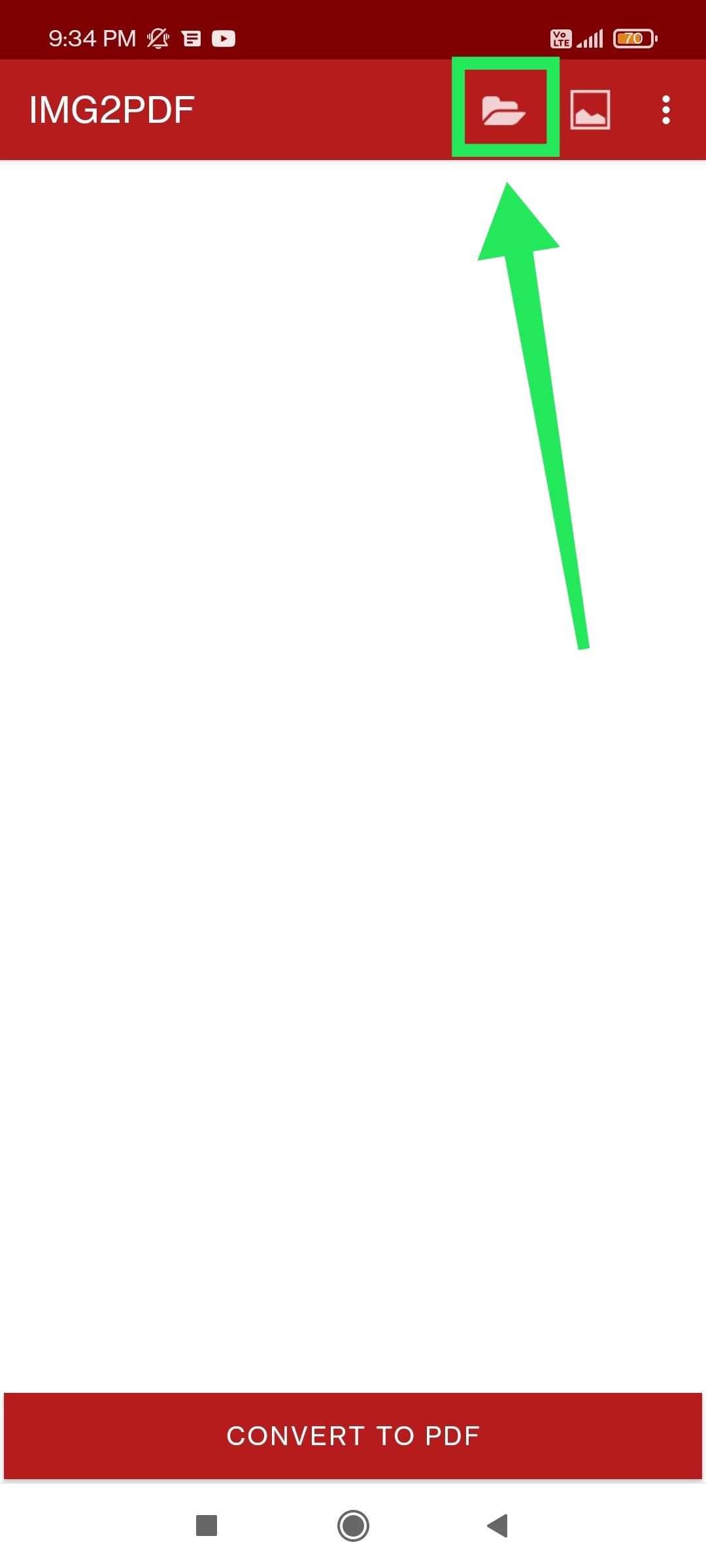 Tap Folder Icon PDF Maker