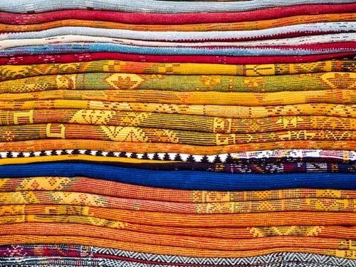 Rug pile Morocco