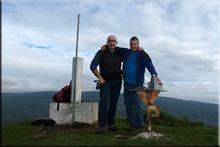 San Vítores mendiaren gailurra 892 m. --  2015eko urriaren 12an